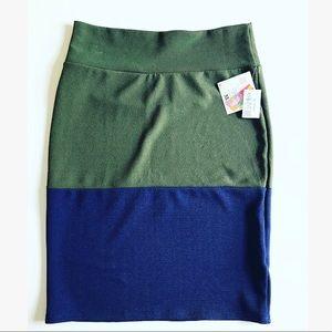 <NWT> LuLaRoe Dual Color Cassie Pencil Skirt
